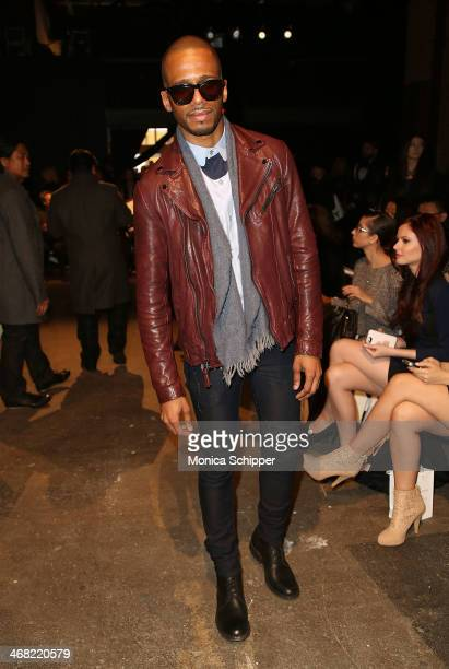 Actor Eric West attends the Rolando Santana fashion show during MercedesBenz Fashion Week Fall 2014 at Eyebeam on February 9 2014 in New York City