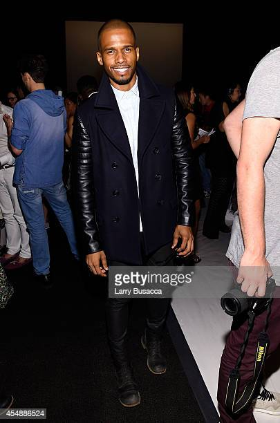 Actor Eric West attends the Vivienne Tam fashion show during MercedesBenz Fashion Week Spring 2015 at The Theatre at Lincoln Center on September 7...