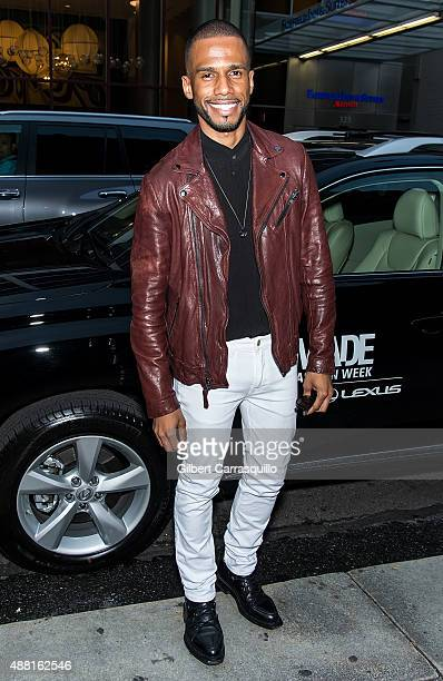 Actor Eric West is seen arriving at Prabal Gurung fashion show during Spring 2016 New York Fashion Week on September 13 2015 in New York City