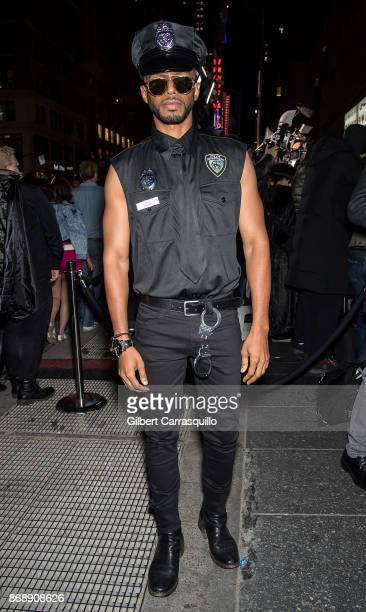 Actor Eric West is seen during Heidi Klum's 18th Annual Halloween Party at Magic Hour Rooftop Bar Lounge on October 31 2017 in New York City