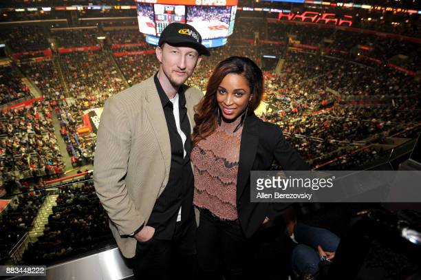 Actor Eric Zuley and producer Dante Sears attend a basketball game between the Los Angeles Clippers and the Utah Jazz at Staples Center on November...