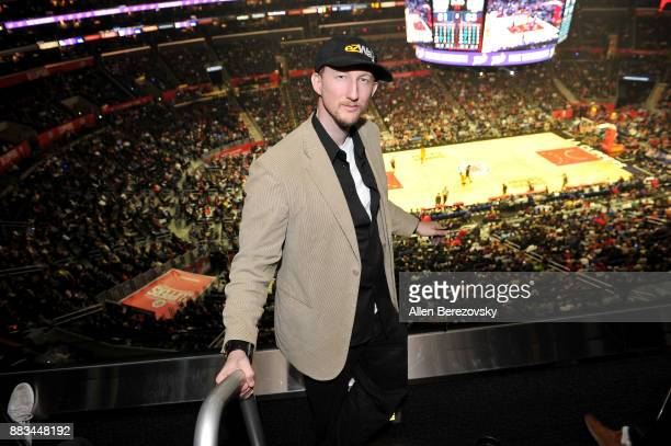 Actor Eric Zuley attends a basketball game between the Los Angeles Clippers and the Utah Jazz at Staples Center on November 30 2017 in Los Angeles...