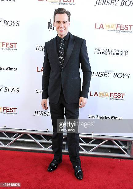 Actor Erich Bergen attends the 2014 Los Angeles Film Festival closing night premiere of 'Jersey Boys' at Premiere House on June 19 2014 in Los...