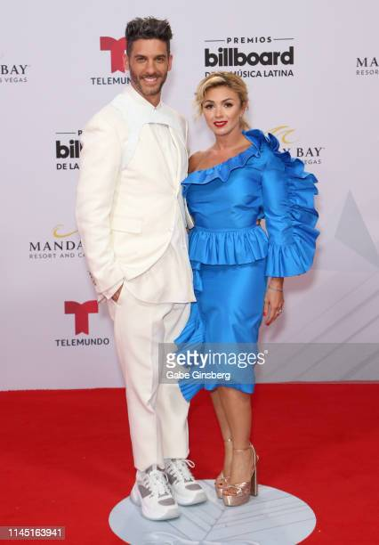 Actor Erick Elias and Karla Guindi attend the 2019 Billboard Latin Music Awards at the Mandalay Bay Events Center on April 25 2019 in Las Vegas Nevada
