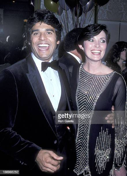 Actor Erik Estrada and actress Beverly Sassoon attend the BenGurion University of the Negev Hosts George Burns' 85th Birthday and Dedicates the...