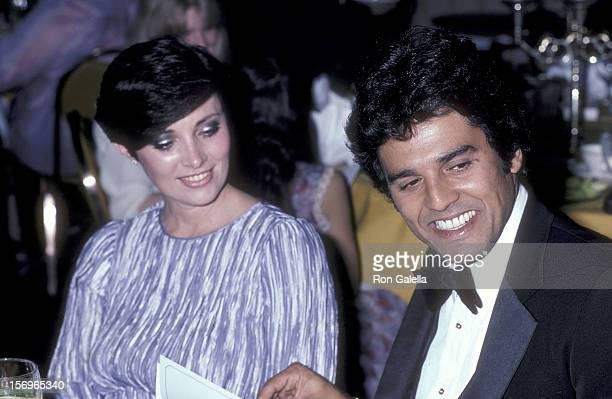Actor Erik Estrada and actress Beverly Sassoon attend the National Hockey League's 33rd Annual AllStar Dinner on February 9 1981 at the Century Plaza...
