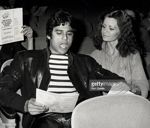 Actor Erik Estrada and Barbara Horan attend The Night of at Least a Dozen Stars Benefit on April 27 1981 at the Wilshire Ebell Theater in Beverly...