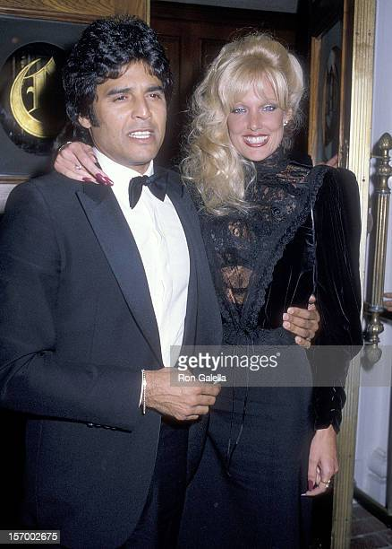 Actor Erik Estrada and date Kathy Shower attend the AllStar Party for Frank Sinatra Special Television Tribute to Benefit Variety Clubs International...