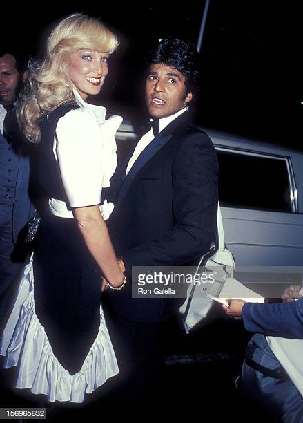 Actor Erik Estrada and date Kathy Shower attend the Third Annual St Jude Children's Research Hospital Hollywood Gala on July 16 1983 at the Century...