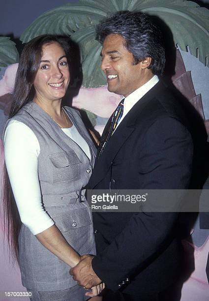 Actor Erik Estrada and fiance Nanette Mirkovich attend the Miami Hispanic Media Conference on October 27 1994 at the Hyatt Regency Hotel in Miami...