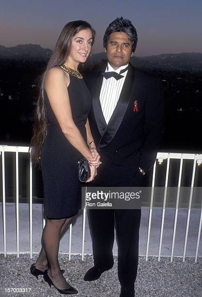 Actor Erik Estrada and fiance Nanette Mirkovich attend the Multicultural Motion Picture Association's Second Annual Diversity Awards on September 20...