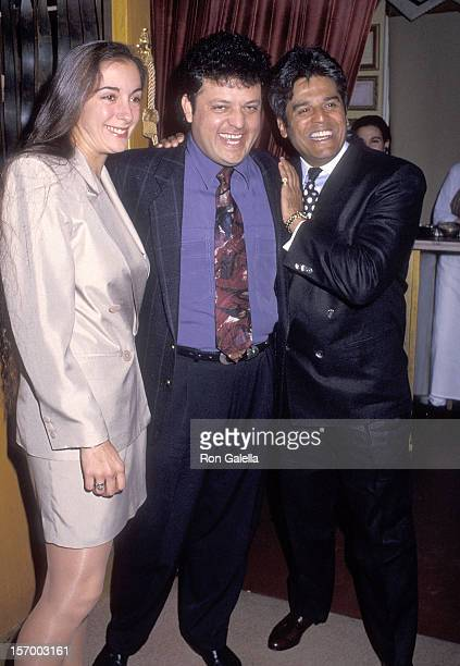 Actor Erik Estrada and girlfriend Nanette Mirkovich and comedian Paul Rodriguez attend Univision's El show de Paul Rodriguez After Show Party on...