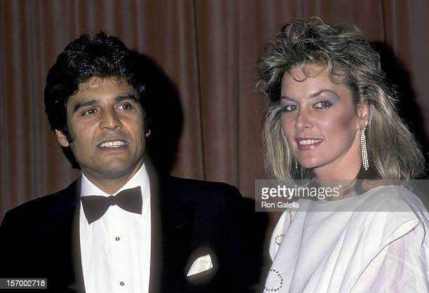 Actor Erik Estrada and girlfriend Peggy Rowe attend the 14th Annual Nosotros Golden Eagle Awards on June 8 1984 at the Beverly Hilton Hotel in...