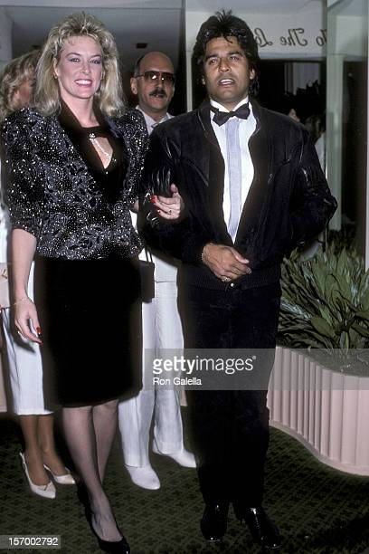 Actor Erik Estrada and wife Peggy Rowe attend the Beverly Hills Hotel's Early 75th Birthday Celebration for Special Feature on the Television Program...