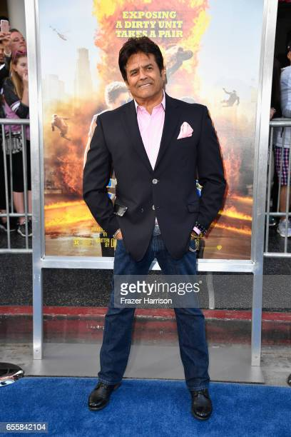Actor Erik Estrada arrives at the Premiere Of Warner Bros Pictures' CHiPS at TCL Chinese Theatre on March 20 2017 in Hollywood California