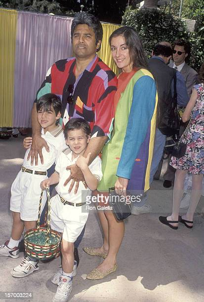 Actor Erik Estrada girlfriend Nanette Mirkovich and his sons Anthony and Brandon attend Jean Casey Kasem's Second Annual Great American Wooded Easter...
