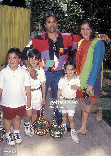 Actor Erik Estrada girlfriend Nanette Mirkovich and his sons Anthony and Brandon and his nephew John Paul attend Jean Casey Kasem's Second Annual...