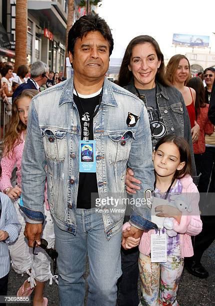 Actor Erik Estrada wife Nanette and their child Fransesca arrive to the world premiere of Disney's Meet The Robinsons held at the El Capitan Theater...