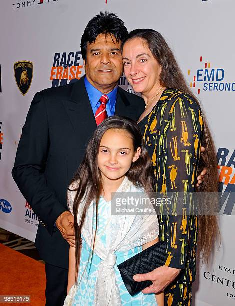 Actor Erik Estrada with his wife Nanette Mirkovich and their daughter Francesca arrives at the 17th Annual Race to Erase MS event cochaired by Nancy...