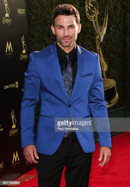 Actor Erik Fellows attends the 45th Annual Daytime Creative Arts Emmy Awards at the Pasadena Civic Auditorium on April 27 2018 in Pasadena California