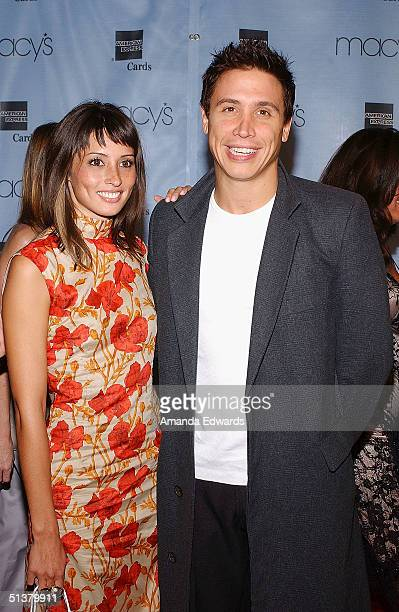 Actor Erik Palladino and fiancee designer Jaime Lee attend the Macy's Passport Gala to Benefit HIV/AIDS Research and Awareness September 30 2004 in...