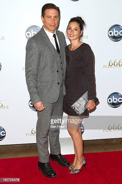 Actor Erik Palladino and Jamie LeePalladino attend the 666 Park Avenue Series Premiere Party at Crosby Street Hotel on September 24 2012 in New York...