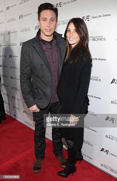 Actor Erik Palladino and wife Jaime Lee attend AE's premiere party event for Stephen King's Bag of Bones at Fig Olive Melrose Place on December 8...