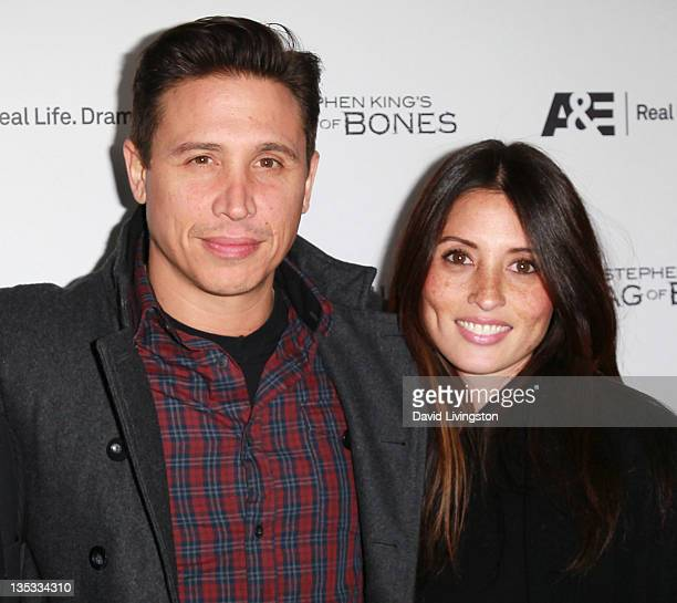 Actor Erik Palladino and wife Jaime Lee attend the premiere party for AE's original miniseries Bag Of Bones at Fig Olive Melrose Place on December 8...