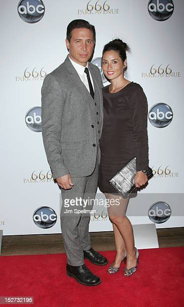 Actor Erik Palladino and wife Jamie LeePalladino attend the 666 Park Avenue Premiere at the Crosby Street Hotel on September 24 2012 in New York City