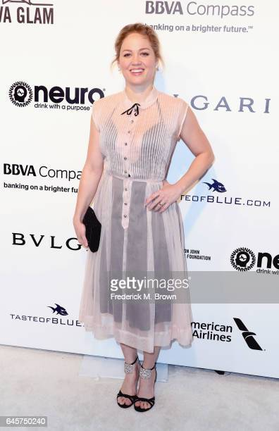Actor Erika Christensen attends the 25th Annual Elton John AIDS Foundation's Academy Awards Viewing Party at The City of West Hollywood Park on...