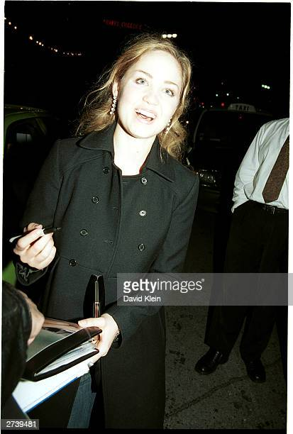 Actor Erika Christensen poses at Avalon on November 15 2003 in Hollywood California