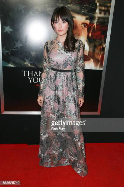 Actor Erin Darke attends the premiere of DreamWorks Pictures and Universal Pictures' 'Thank You For Your Service' at Regal LA Live Stadium 14 on...