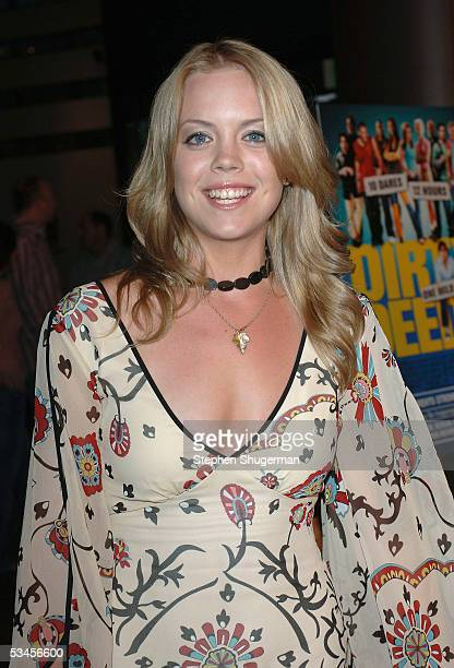 Actor Erin Torpey atttends the world premiere of Dirty Deeds at the Directors Guild of America on August 23 2005 in Los Angeles California