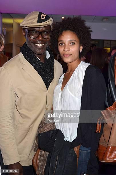 Actor Eriq Ebouaney and singer Stefi Celma attends the Coca-Cola 125th Anniversary Celebration at Espace 125 Coca Cola on April 27 2011 in Paris,...
