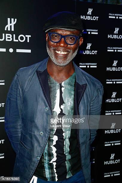 Actor Eriq Ebouaney attends the Hublot Blue Coktail at Mr Bleu at Palais de Tokyo on June 24 2015 in Paris France