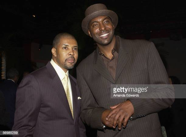 Actor Eriq La Salle and basketball player John Salley attend the 2nd Annual EBONY Oscar Celebration at the Henson Studios on March 2, 2006 in...