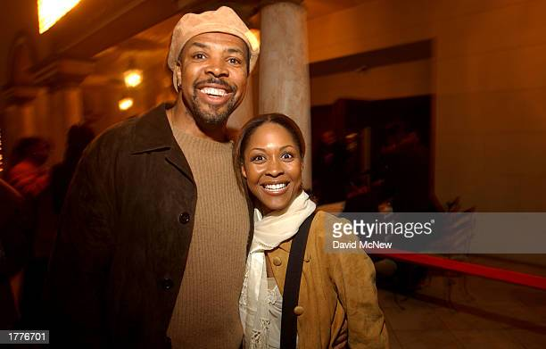 Actor Eriq LaSalle and Monica Calhoun arrive for the screening of Civil Band during the Pan African Film Arts Festival on February 6 2003 in...