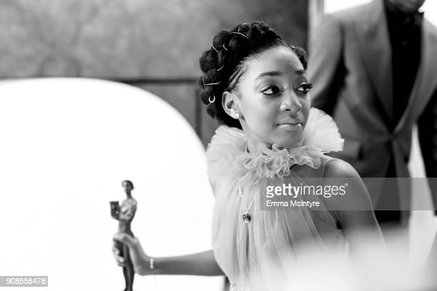 Actor Eris Baker cowinner of the the Outstanding Performance by an Ensemble in a Drama Series award for 'This Is Us' attends the 24th Annual Screen...