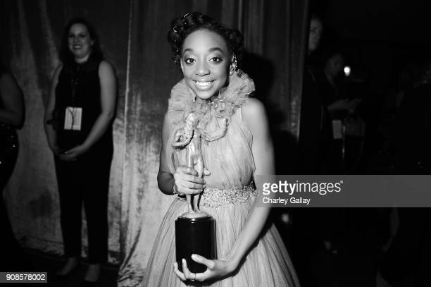 Actor Eris Baker cowinner of the the Outstanding Performance by an Ensemble in a Drama Series award for 'This Is Us' during the 24th Annual Screen...