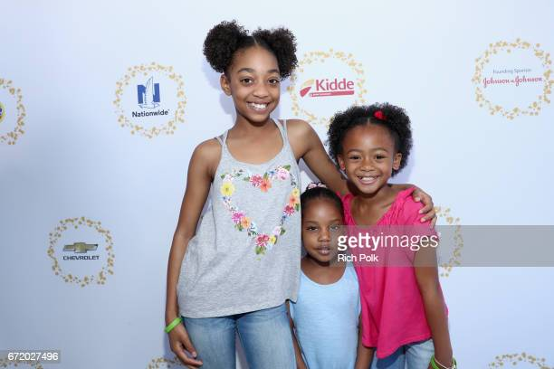 Actor Eris Baker guest and actor Faithe Herman attend Safe Kids Day 2017 at Smashbox Studios on April 23 2017 in Culver City California