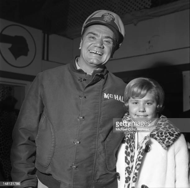 Actor Ernest Borgnine and his daughter Nancee Borgnine attend an event circa 1964 in Los Angeles California