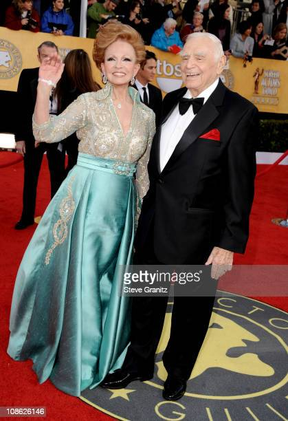 Actor Ernest Borgnine and wife Tova Borgnine arrive at the 17th Annual Screen Actors Guild Awards held at The Shrine Auditorium on January 30 2011 in...