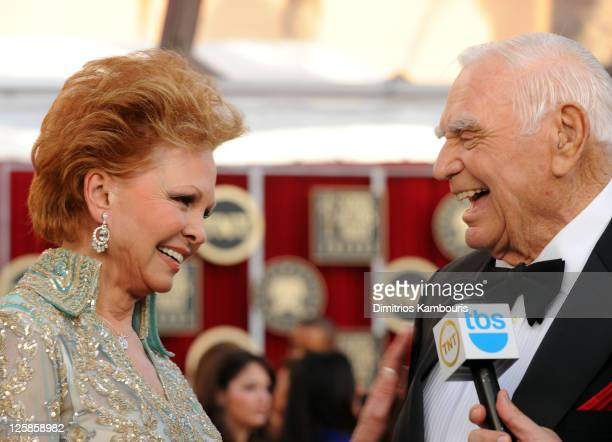 Actor Ernest Borgnine and wife Tova Borgnine arrive at the TNT/TBS broadcast of the 17th Annual Screen Actors Guild Awards held at The Shrine...