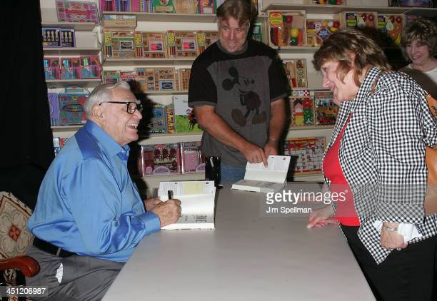 Actor Ernest Borgnine signs copies of Ernie: The Autobiography for fans at Bookends on August 13, 2008 in Ridgewood, New Jersey.