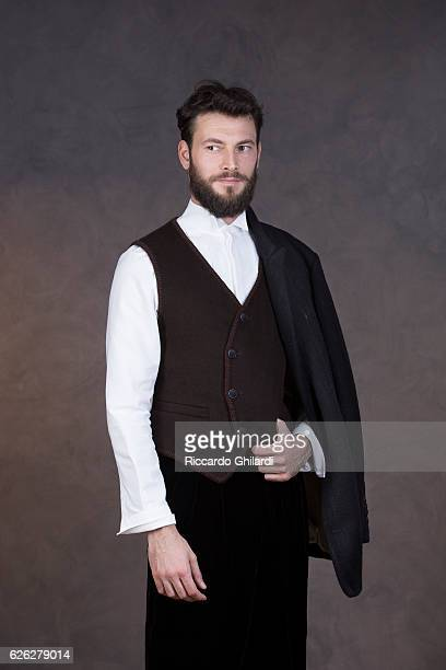 Actor Ernesto D'Argenio is photographed for Self Assignment on November 8 2016 in Rome Italy