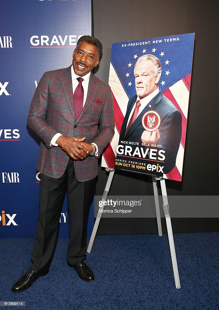 Actor Ernie Hudson attends the EPIX Graves NY premiere on October 5, 2016 in New York City.