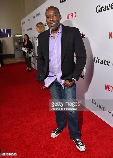 Actor Ernie Hudson attends the premiere of Netflix's Grace and Frankie at Regal Cinemas LA Live on April 29 2015 in Los Angeles California