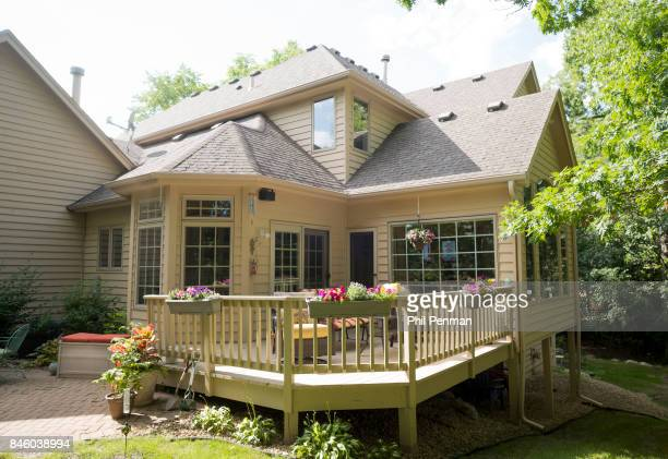 Actor Ernie Hudson's home is photographed for Closer Weekly Magazine on July 5 2017 in Minnesota Deck PUBLISHED IMAGE
