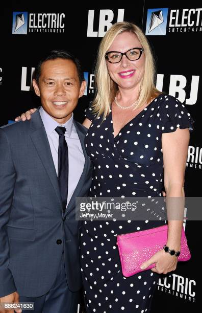 Actor Ernie Reyes Jr and actress Lisa Reyes arrive at the premiere of Electric Entertainment's 'LBJ' at the Arclight Theatre on October 24 2017 in...