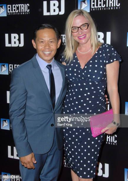 Actor Ernie Reyes Jr and actress Lisa Reyes attend the premiere of Electric Entertainment's 'LBJ' at ArcLight Hollywood on October 24 2017 in...